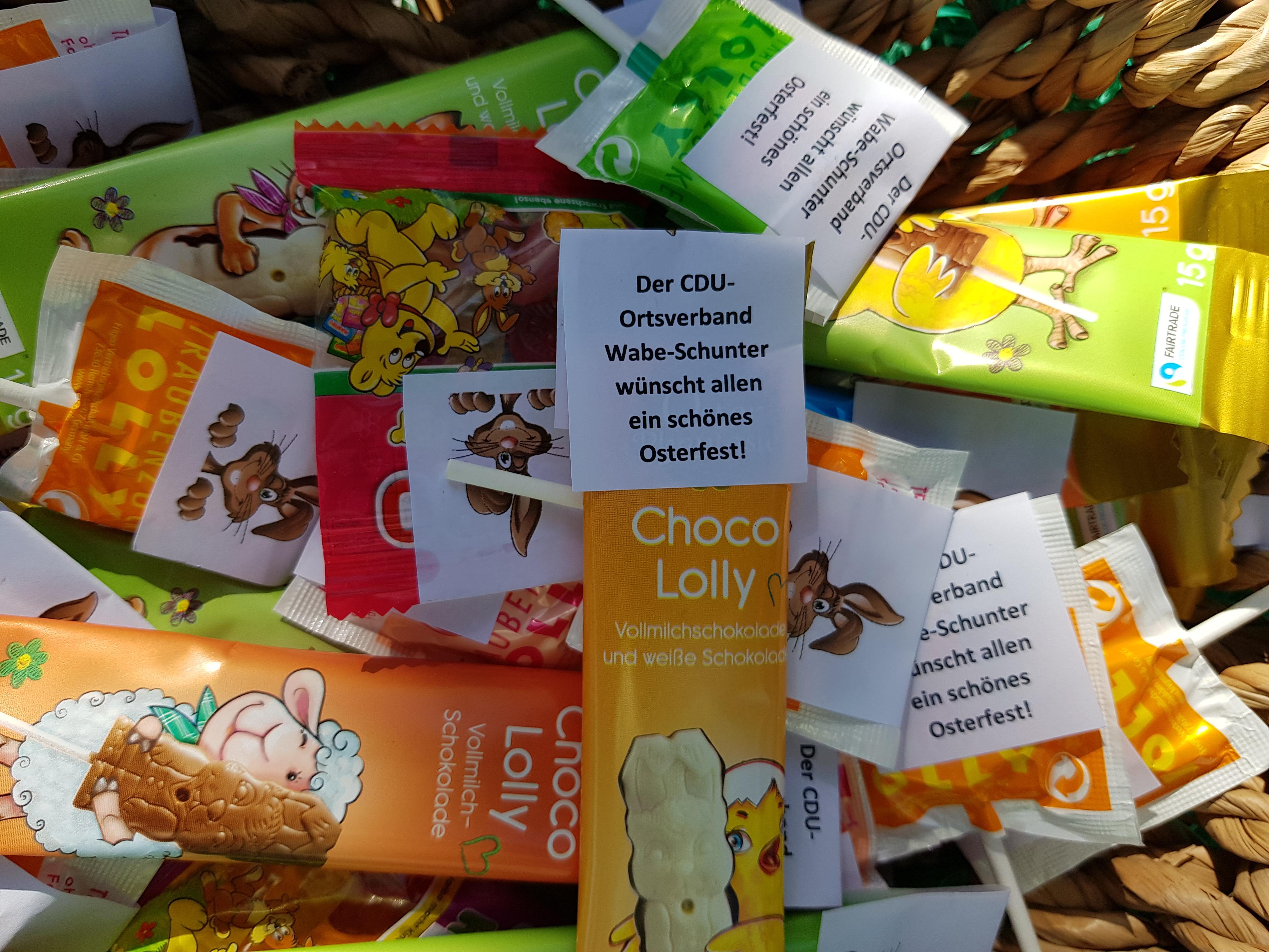 Der CDU-Ortsverband Wabe-Schunter wünscht frohe Ostern!